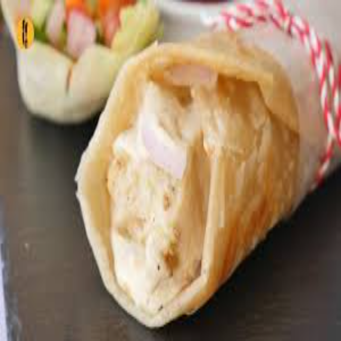 Chicken Malai Boti Paratha Roll