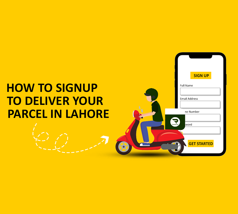 How to Sign up on Freshstore pk to Deliver your Parcels in Lahore