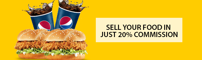 Sell Your Food in Just 20 Percent Commission